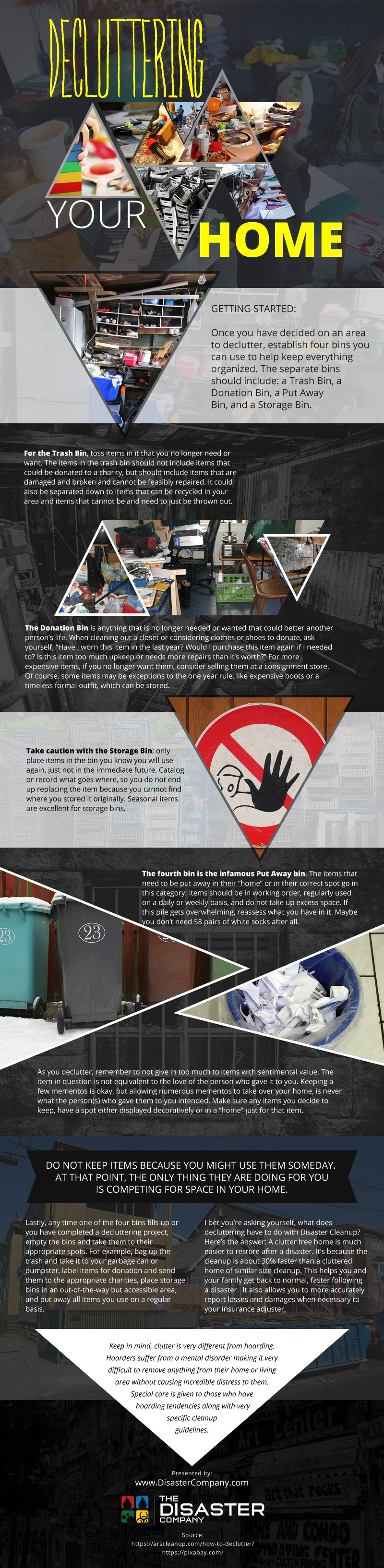 Decluttering your Home [infographic]